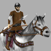 Medieval light Cavalry 3d model
