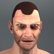 brzydka głowa człowieka 3d model