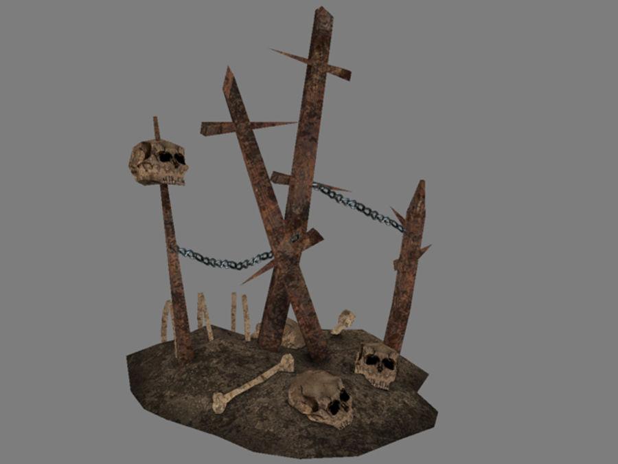 Crâne et os royalty-free 3d model - Preview no. 1