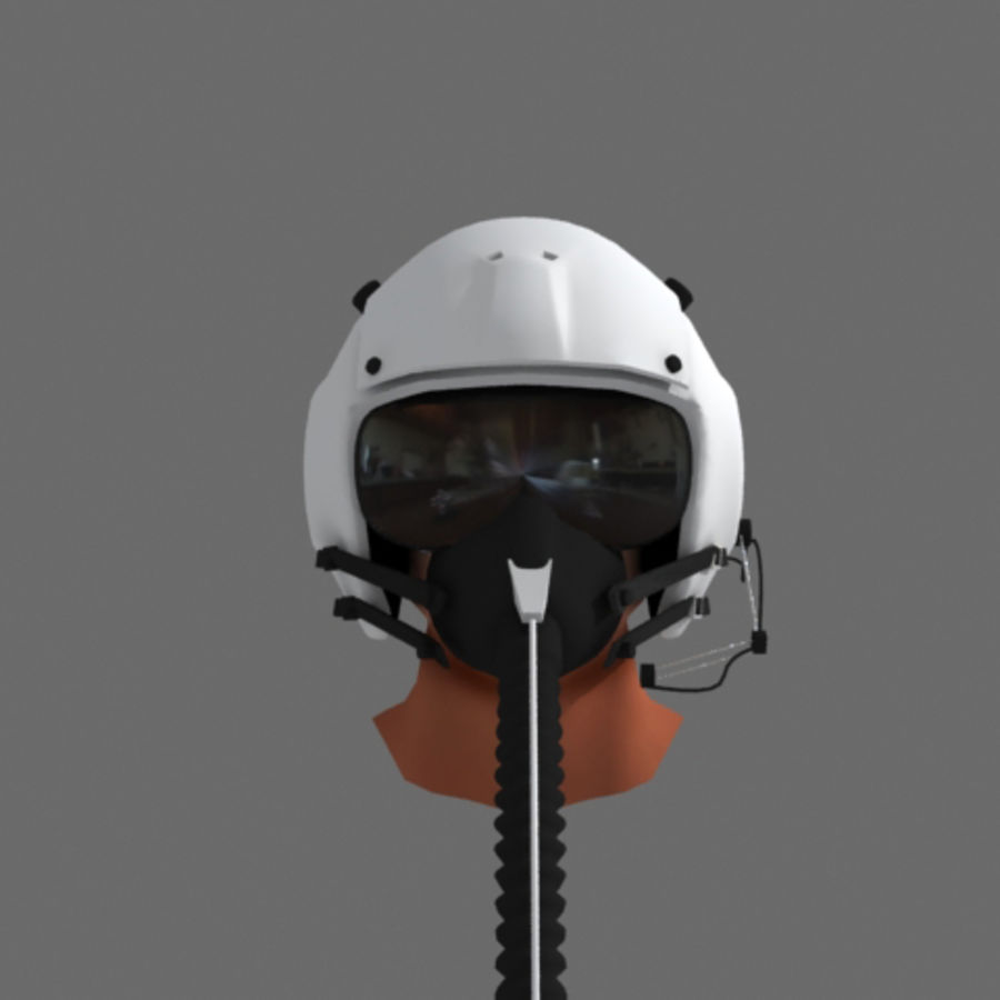 pilot helmet royalty-free 3d model - Preview no. 3
