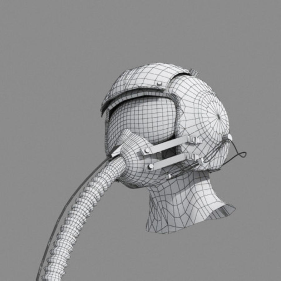 pilot helmet royalty-free 3d model - Preview no. 5
