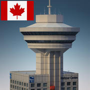 Punto di riferimento di Vancouver - Lookout Tower Building 3d model