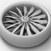 Ventilateur d'avion 3d model