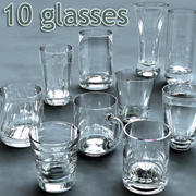 10 Glasses - Collection 3d model