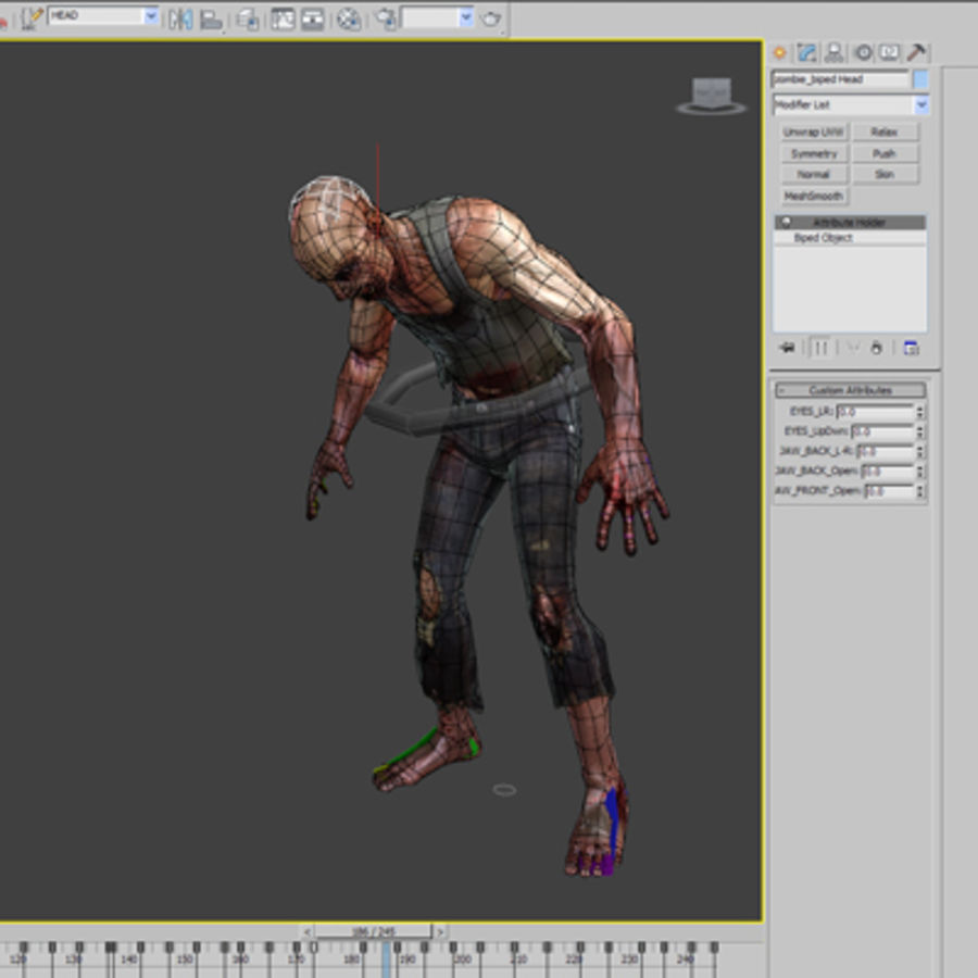 Rage Zombie royalty-free 3d model - Preview no. 9