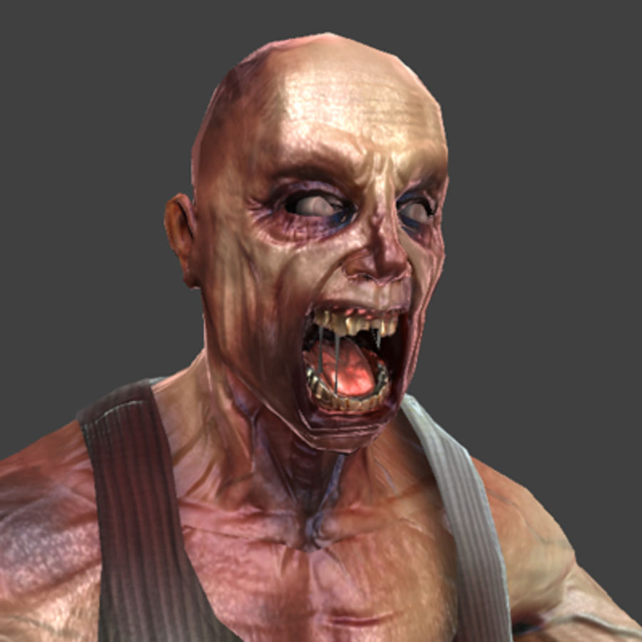 Rage Zombie royalty-free 3d model - Preview no. 1