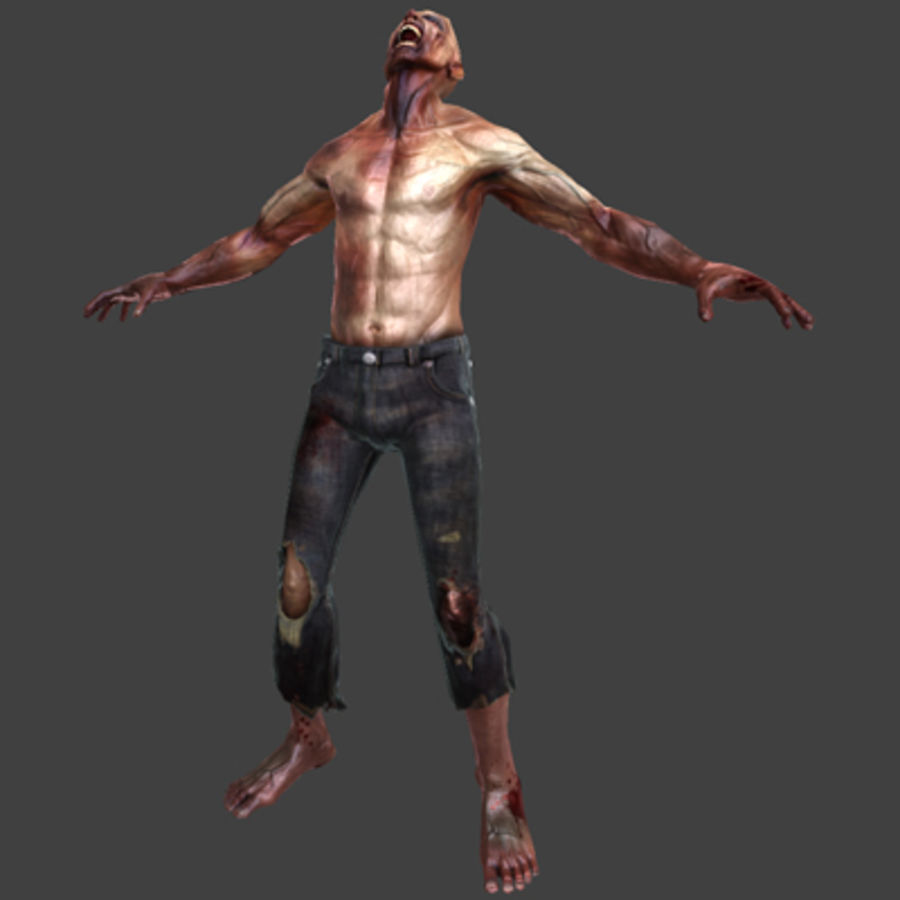 Rage Zombie royalty-free 3d model - Preview no. 8