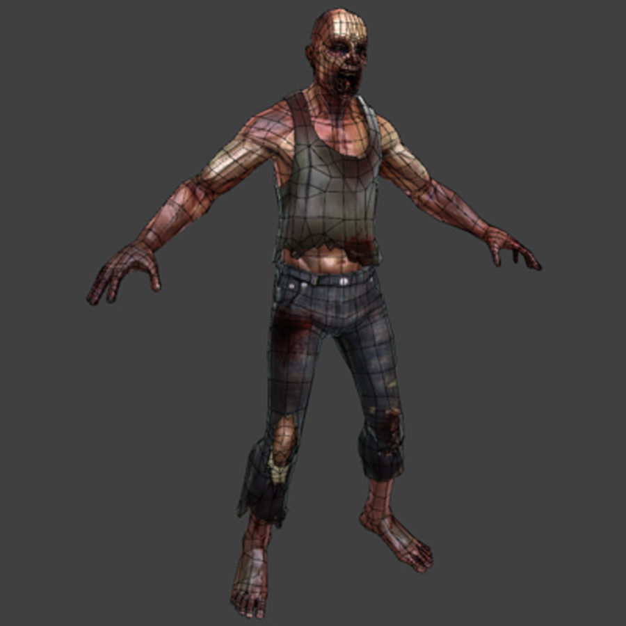 Rage Zombie royalty-free 3d model - Preview no. 5