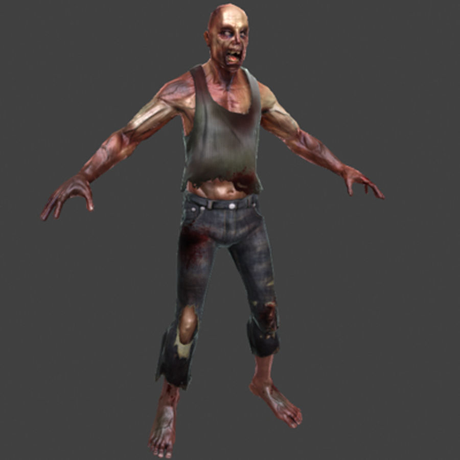Rage Zombie royalty-free 3d model - Preview no. 3