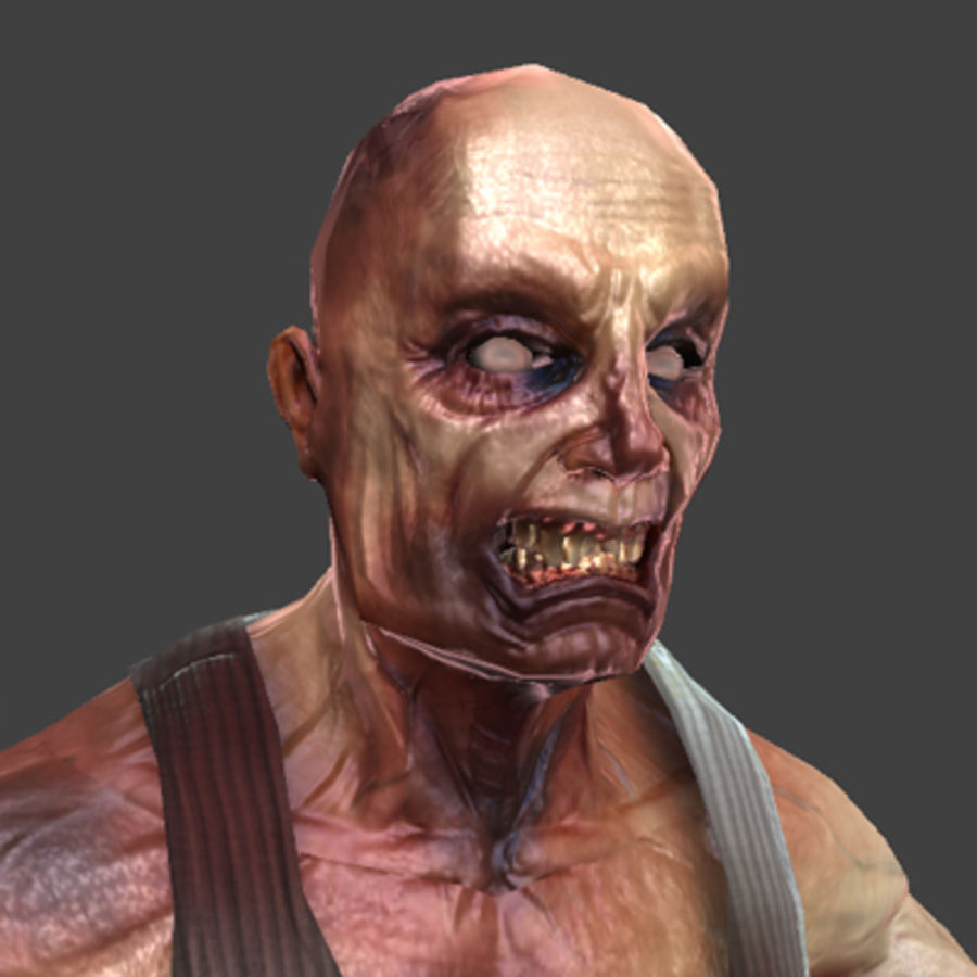 Rage Zombie royalty-free 3d model - Preview no. 2
