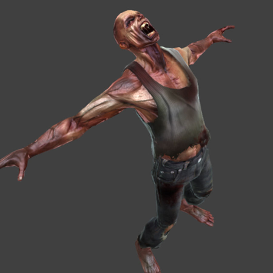 Rage Zombie royalty-free 3d model - Preview no. 7