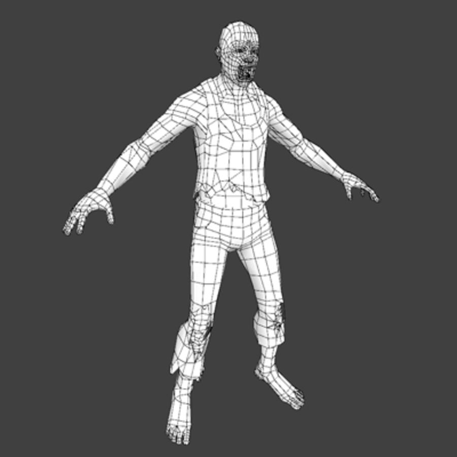 Rage Zombie royalty-free 3d model - Preview no. 6