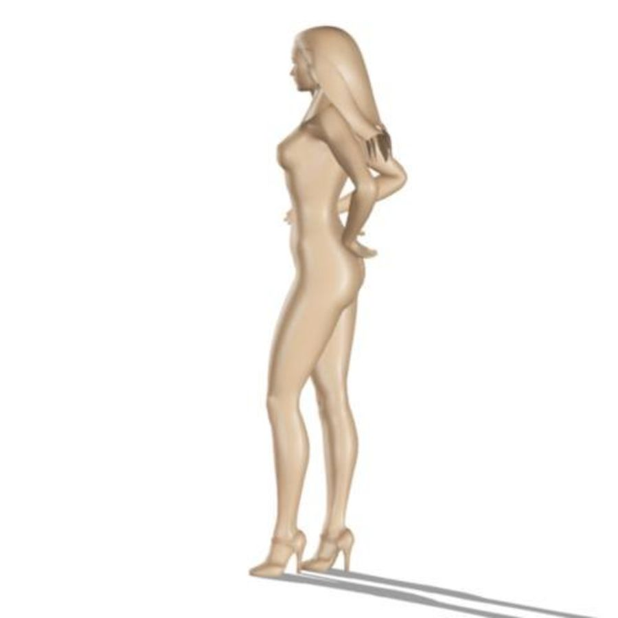 Model kobiety royalty-free 3d model - Preview no. 9