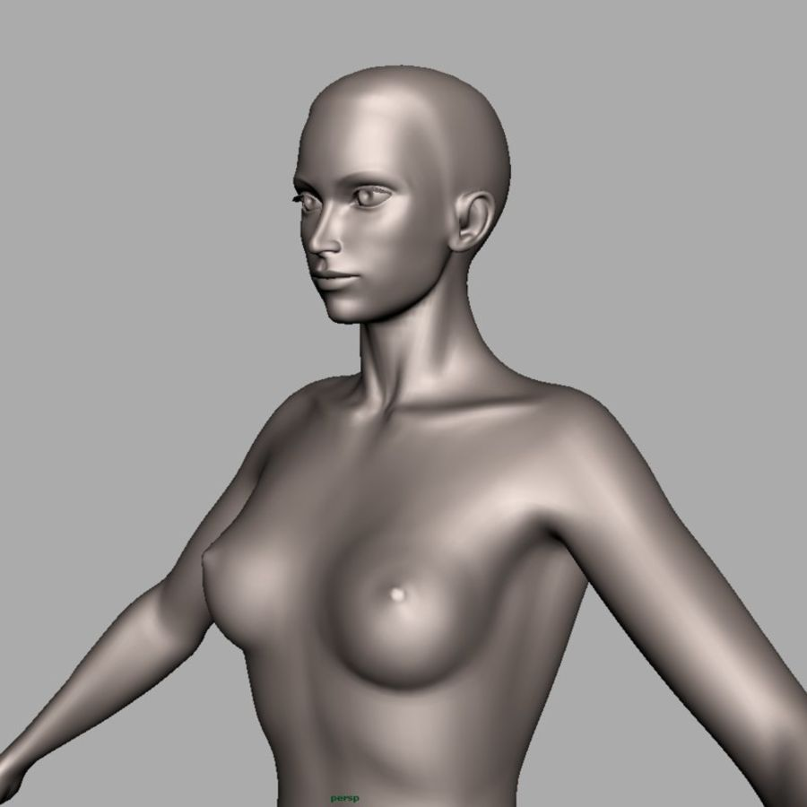 Model kobiety royalty-free 3d model - Preview no. 2