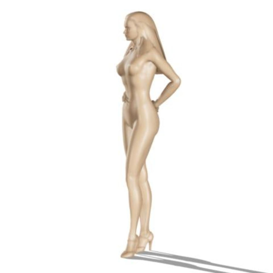 Model kobiety royalty-free 3d model - Preview no. 14