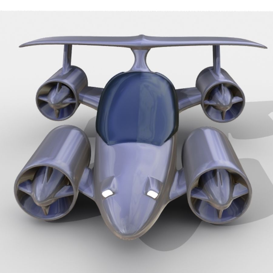 Sky Car royalty-free 3d model - Preview no. 5