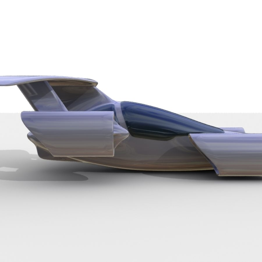 Sky Car royalty-free 3d model - Preview no. 3