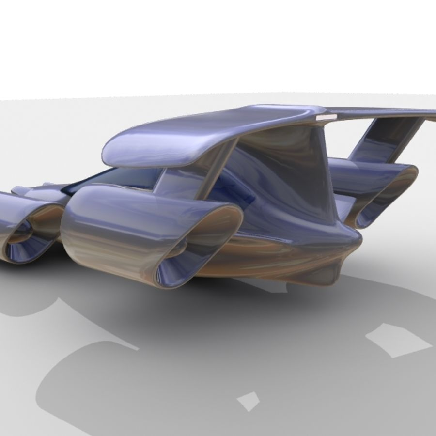 Sky Car royalty-free 3d model - Preview no. 9