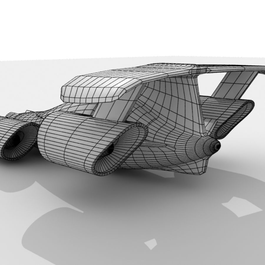 Sky Car royalty-free 3d model - Preview no. 10