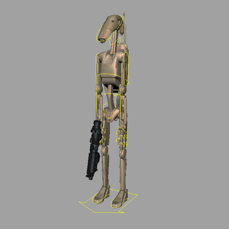 Battle Droid royalty-free 3d model - Preview no. 2