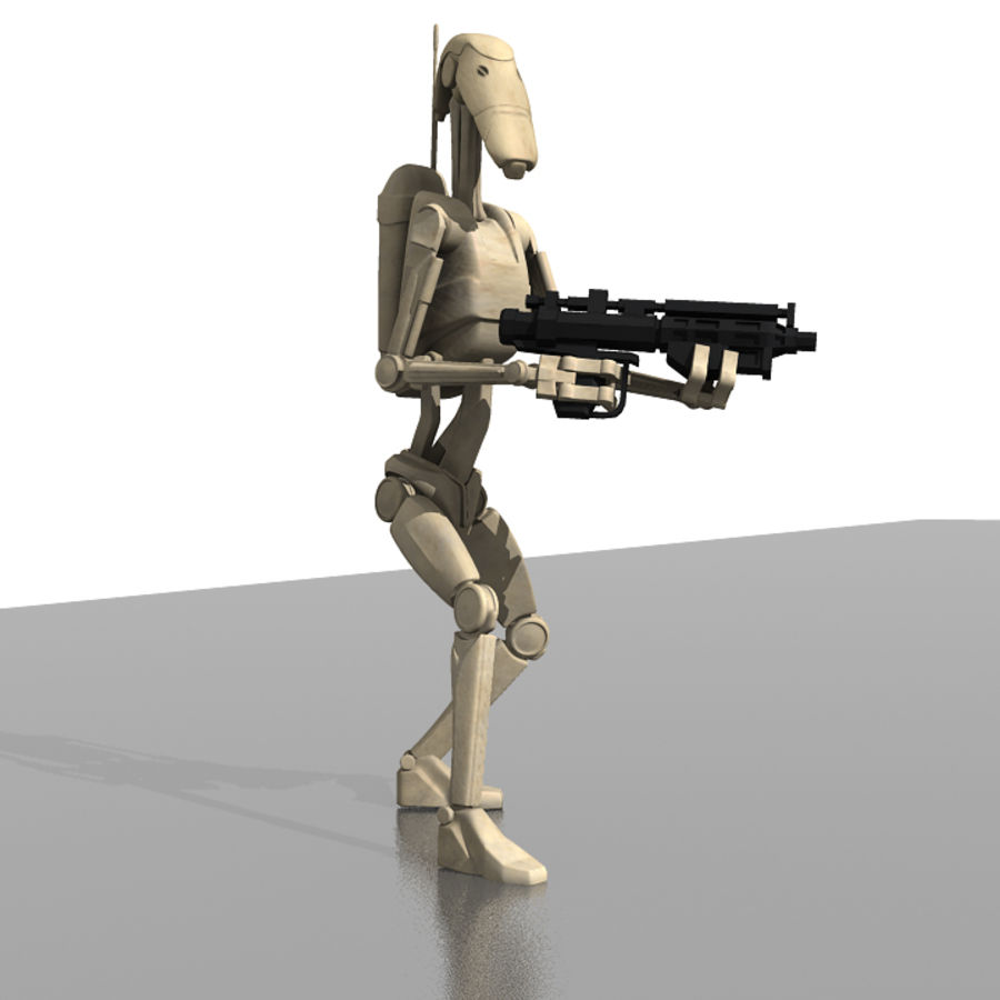 Battle Droid royalty-free 3d model - Preview no. 1