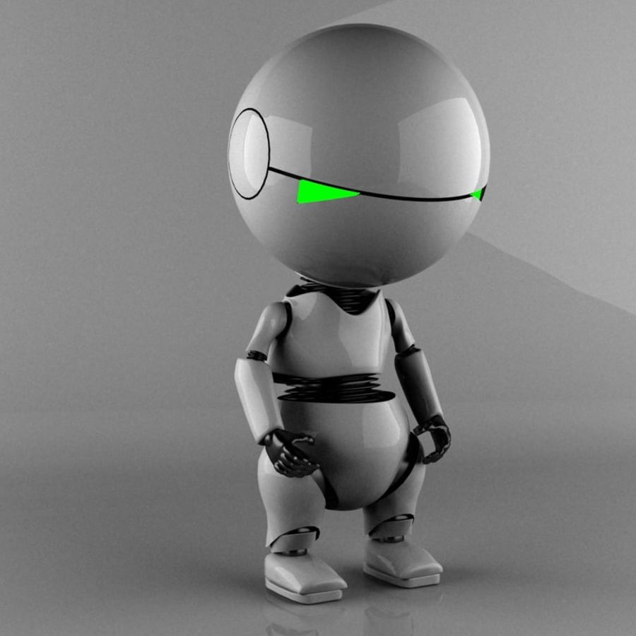 Marvin The Paranoid Android royalty-free 3d model - Preview no. 1