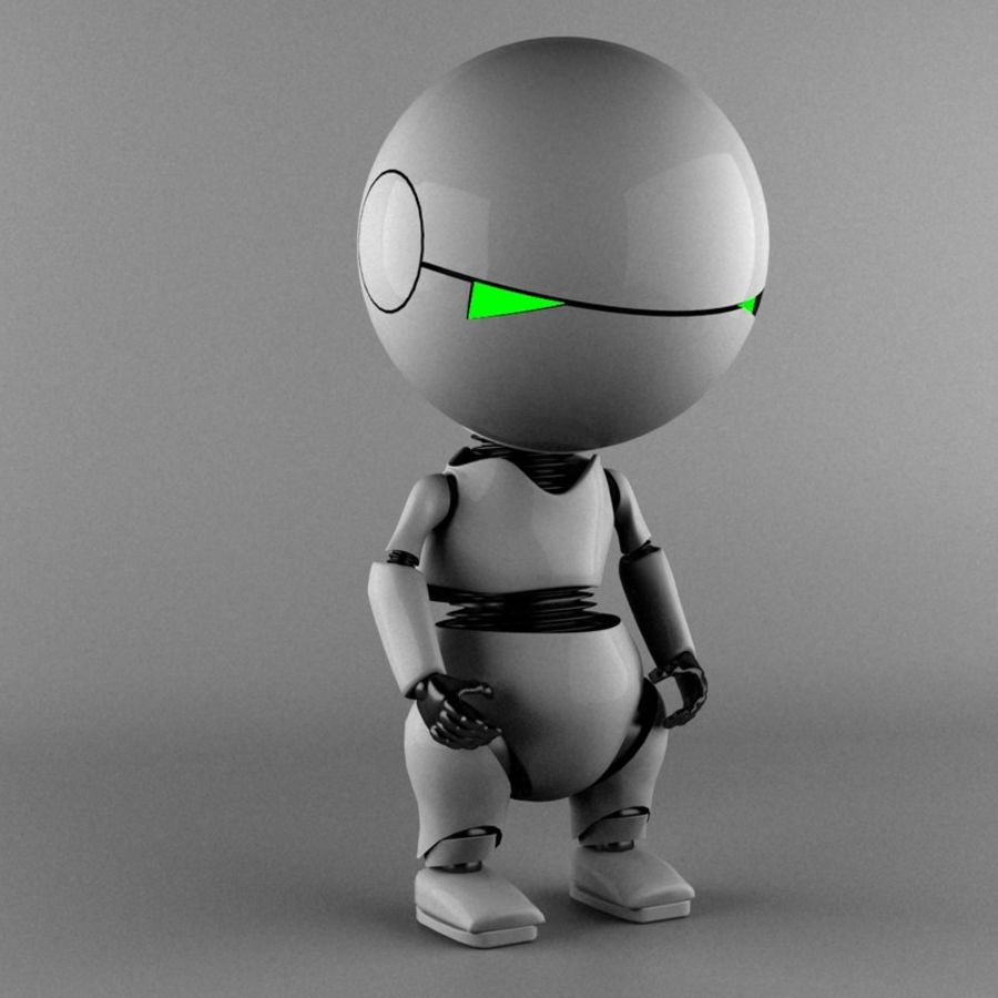 Marvin The Paranoid Android royalty-free 3d model - Preview no. 2