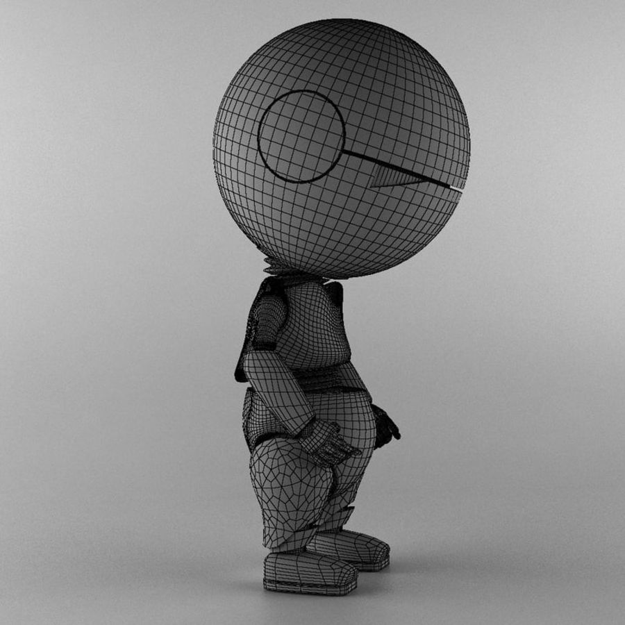 Marvin The Paranoid Android royalty-free 3d model - Preview no. 6