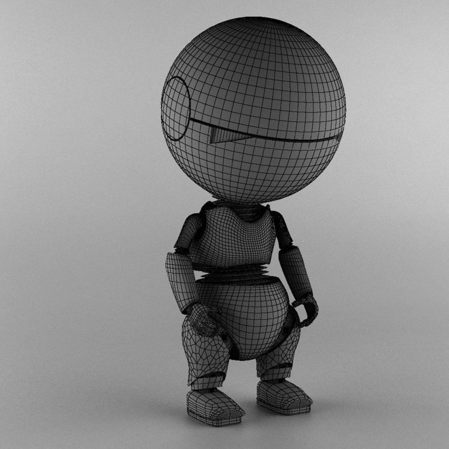 Marvin The Paranoid Android royalty-free 3d model - Preview no. 5