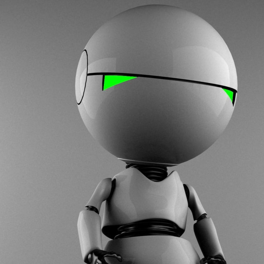 Marvin The Paranoid Android royalty-free 3d model - Preview no. 3