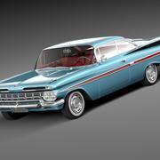 Chevrolet Impala 1959 coupe 3d model