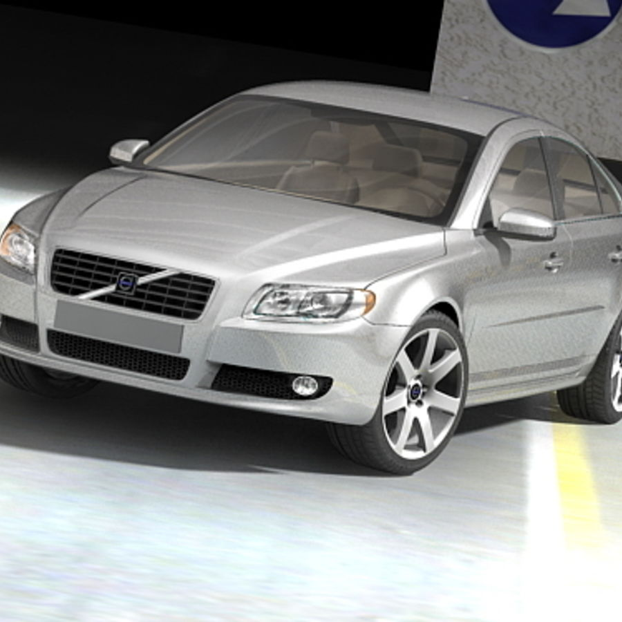 Volvo S80 2005 royalty-free 3d model - Preview no. 4