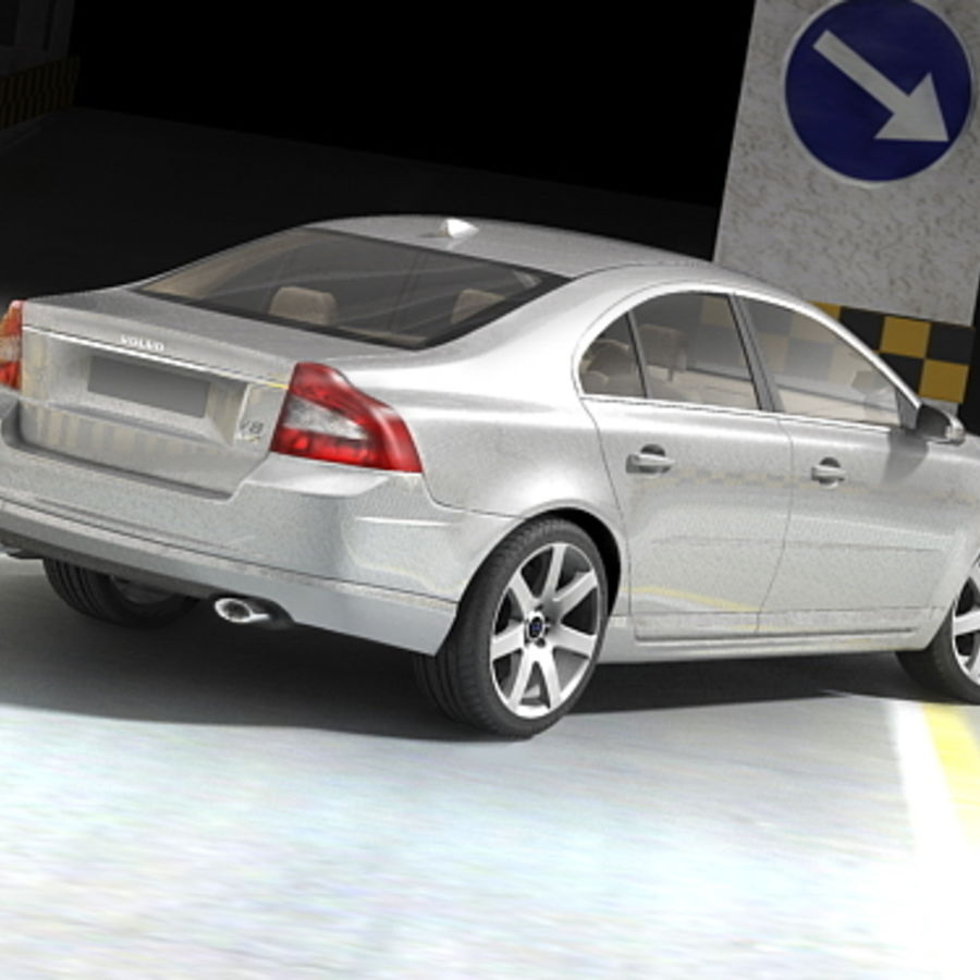 Volvo S80 2005 royalty-free 3d model - Preview no. 5