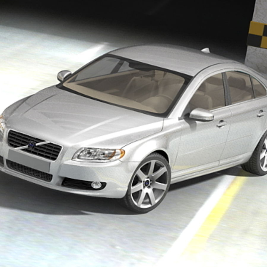 Volvo S80 2005 royalty-free 3d model - Preview no. 3