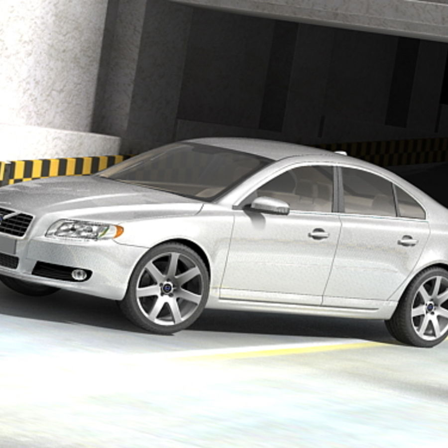 Volvo S80 2005 royalty-free 3d model - Preview no. 1