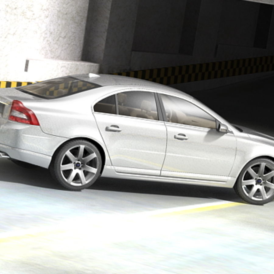 Volvo S80 2005 royalty-free 3d model - Preview no. 2