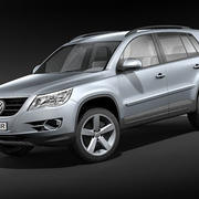 vw tiguan track n field 3d model