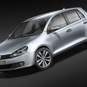 Volkswagen Golf 6 5-Türer 3d model