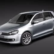 Volkswagen Golf 6 BlueMotion 3d model