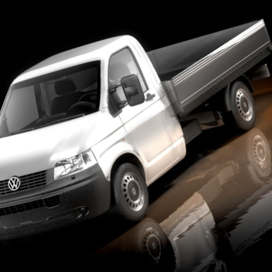 Captador Volkswagen Transporter royalty-free 3d model - Preview no. 1