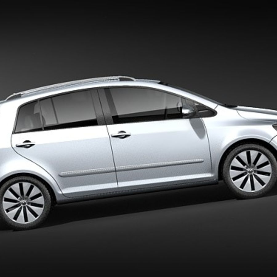 Volkswagen Golf Plus VI royalty-free 3d model - Preview no. 7