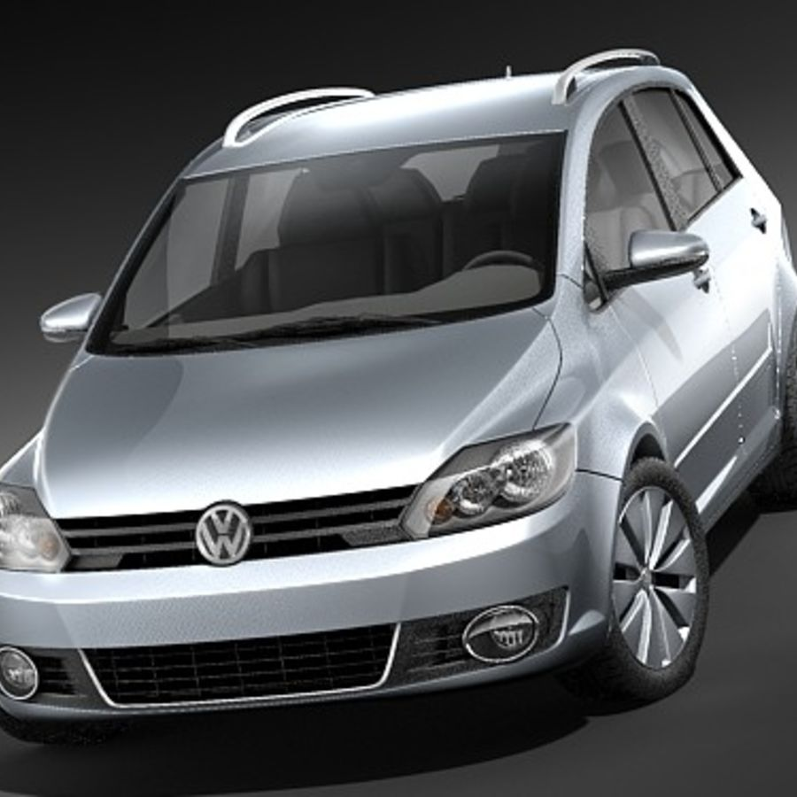 Volkswagen Golf Plus VI royalty-free 3d model - Preview no. 2