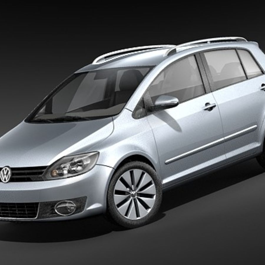 Volkswagen Golf Plus VI royalty-free 3d model - Preview no. 1