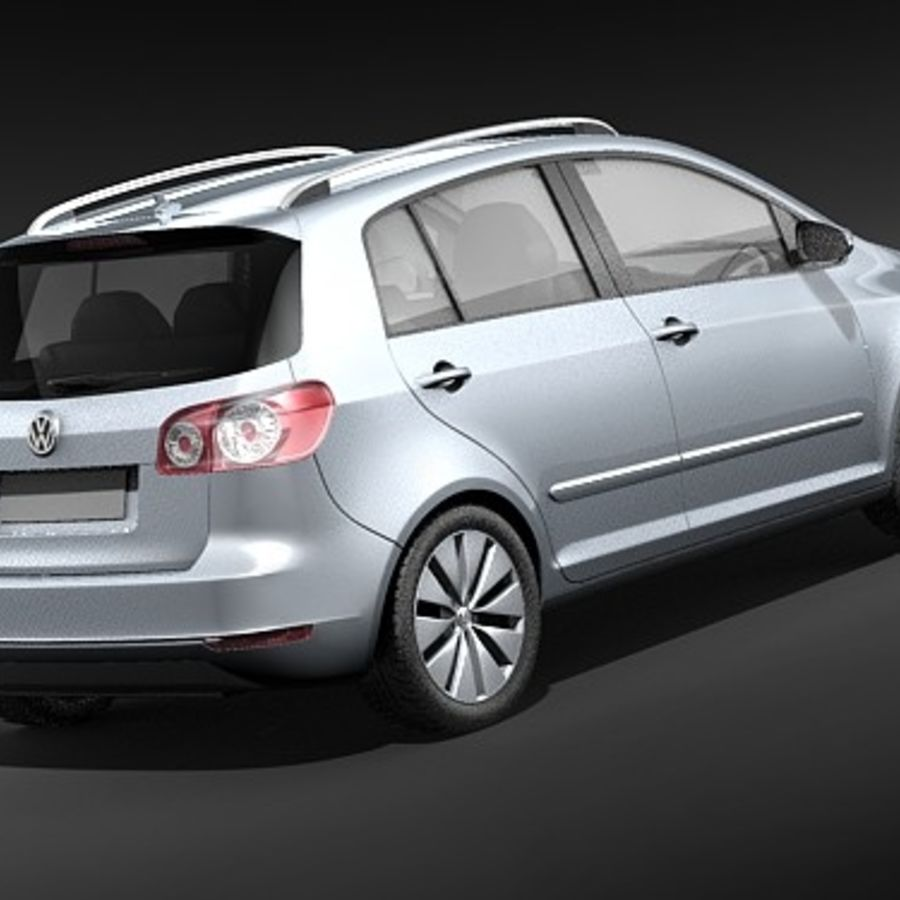 Volkswagen Golf Plus VI royalty-free 3d model - Preview no. 5