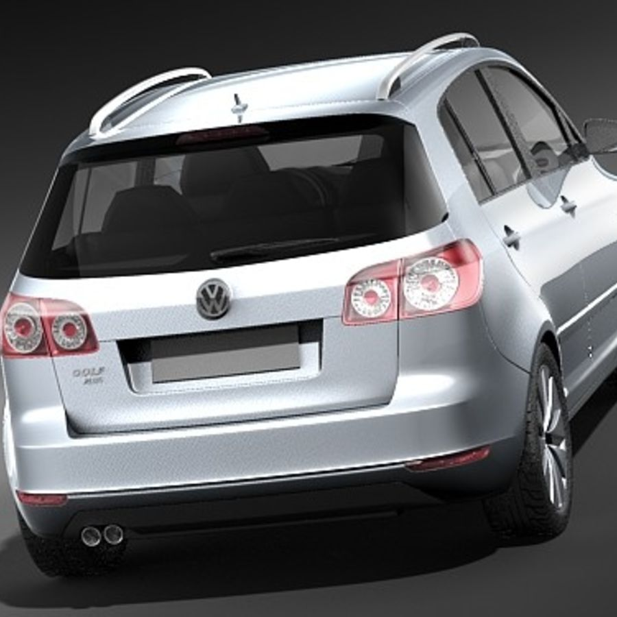 Volkswagen Golf Plus VI royalty-free 3d model - Preview no. 6
