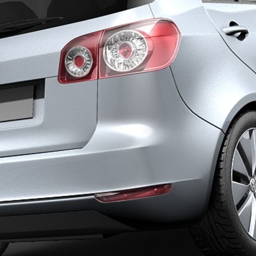 Volkswagen Golf Plus VI royalty-free 3d model - Preview no. 4