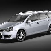 Volkswagen Golf - Jetta V Variant-Vagn 3d model