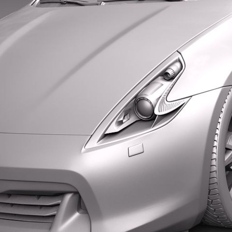 Nissan 370Z Roadster royalty-free 3d model - Preview no. 12
