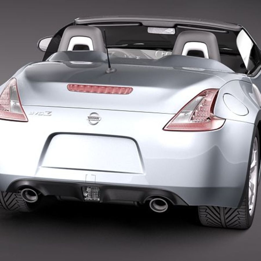 Nissan 370Z Roadster royalty-free 3d model - Preview no. 6
