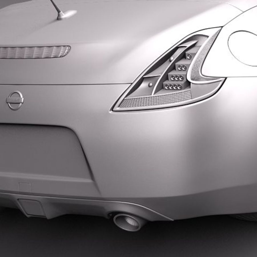 Nissan 370Z Roadster royalty-free 3d model - Preview no. 13